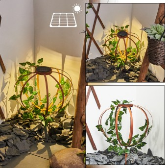 Yonkers Solar lights LED green , rust-coloured, 1-light source