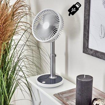 Visting electric desk fan LED grey, white, 1-light source