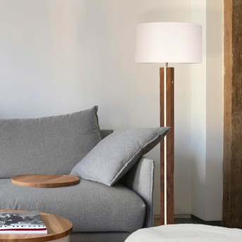 Brilliant Magnus Floor Lamp black, grey, Dark wood, 1-light source