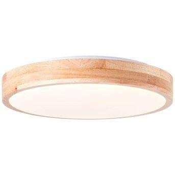 Brilliant Slimline Ceiling Light LED white, Light wood, 1-light source