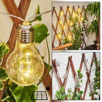 Markhus solar light string LED transparent, clear, 10-light sources