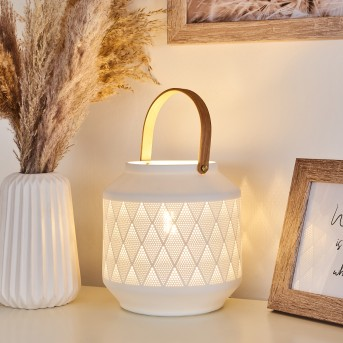 Forrnes Table lamp white, beige, 1-light source