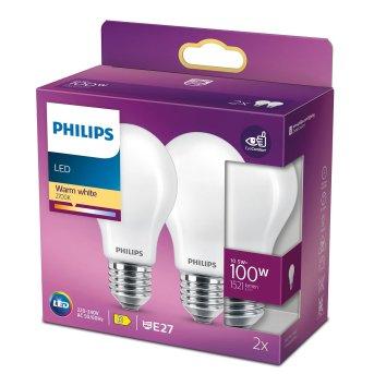 Philips 2x LED E27 10,5 Watt 2700 Kelvin 1521 Lumen