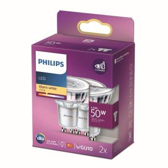 Philips 2x LED GU10 4,6 Watt 2700 Kelvin 355 Lumen
