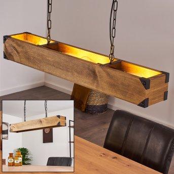 OLOMOUC Pendant Light black, Light wood, 4-light sources