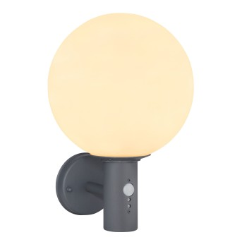 Globo OSSY Outdoor Wall Light anthracite, 1-light source, Motion sensor
