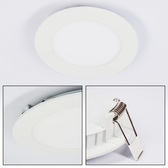 Finsrud recessed light LED white, 1-light source