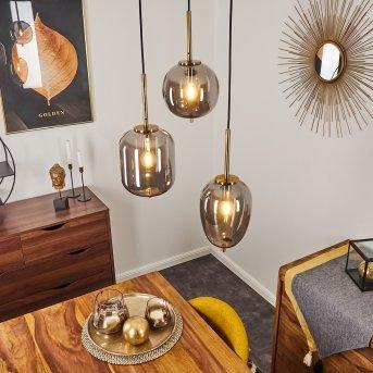 Verbania Pendant Light brass, 3-light sources