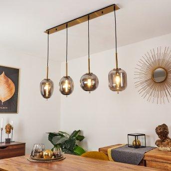 Verbania Pendant Light brass, 4-light sources
