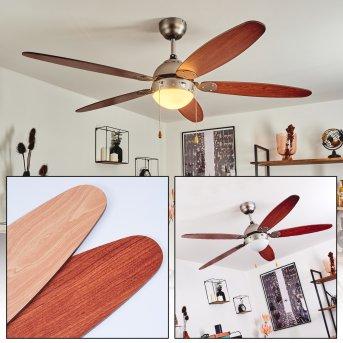 Gyllan ceiling fan matt nickel, 1-light source
