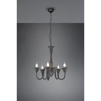 Trio Elsa chandelier anthracite, 5-light sources