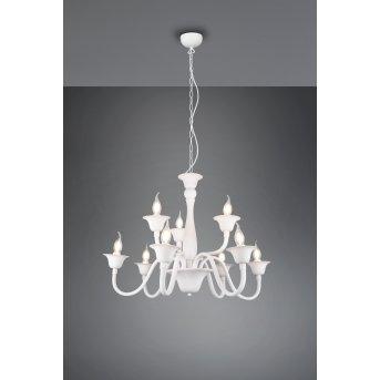 Trio Elsa chandelier white, 9-light sources