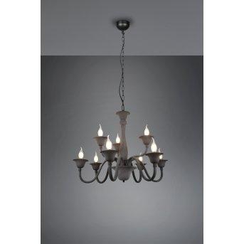 Trio Elsa chandelier anthracite, 9-light sources