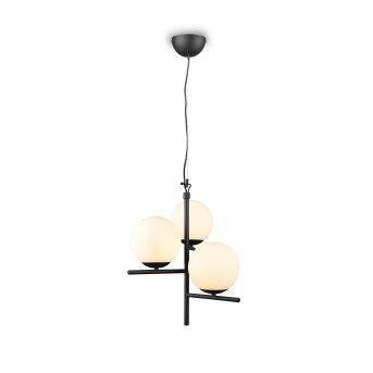 Trio Pure Pendant Light black, 3-light sources