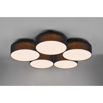 Trio Lugano Ceiling Light LED black, 1-light source