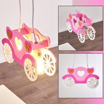 SRONO Pendant Light pink, 2-light sources