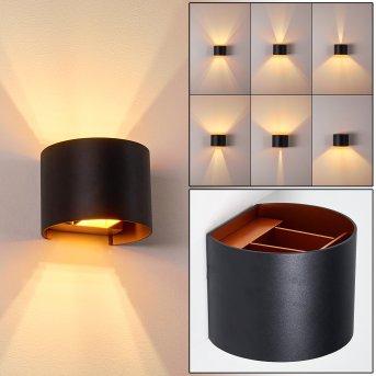 Badajoz Wall Light LED black, copper, 1-light source