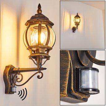 Lentua Outdoor Wall Light brown, gold, 1-light source, Motion sensor