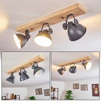 SVANFOLK Ceiling Light blue, grey, brown, white, 3-light sources