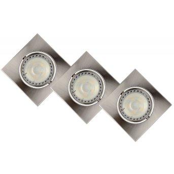 Lucide FOCUS recessed spotlight LED chrome, 3-light sources
