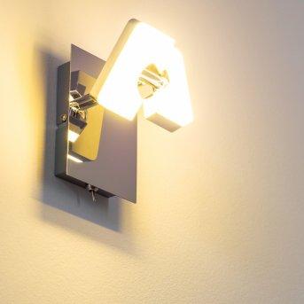 Turin LED wall spotlight chrome, 1-light source