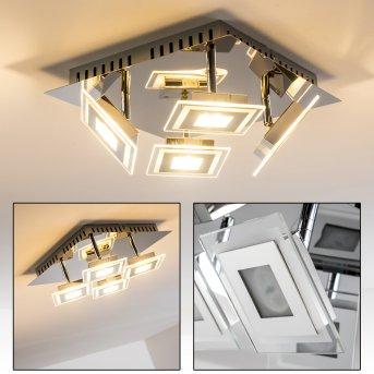 Cerreto ceiling light LED chrome, 4-light sources