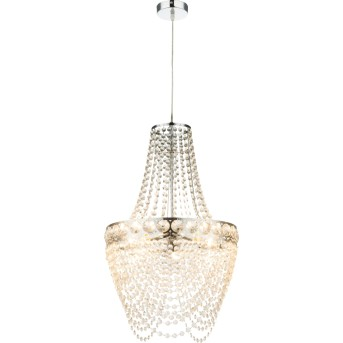 Globo STROMBOLI chandelier clear , chrome, 3-light sources