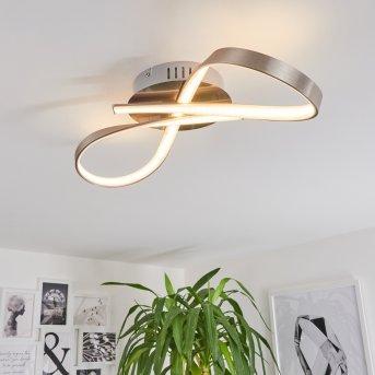 PARSON Ceiling Light LED matt nickel, 1-light source