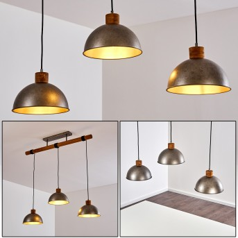 Pendant Light Tholen brown, 3-light sources