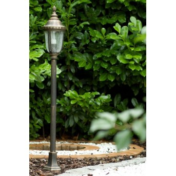 Orion Patina outdoor floor lamp brass, gold, transparent, clear