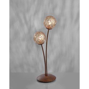 Paul Neuhaus GRETA table lamp rust-coloured, 2-light sources