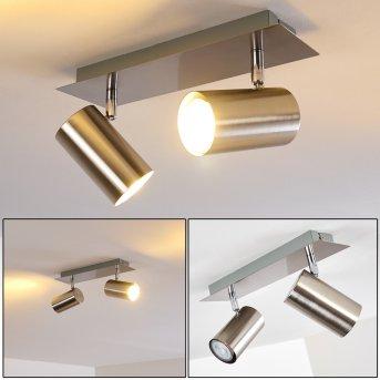 Ceiling Light Zuoz matt nickel, 2-light sources