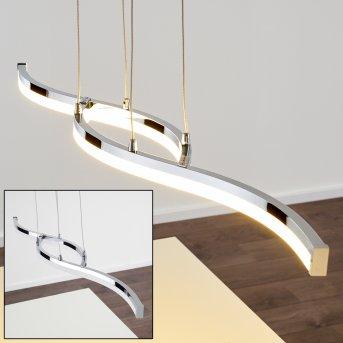 THILO Pendant Light LED chrome, 2-light sources