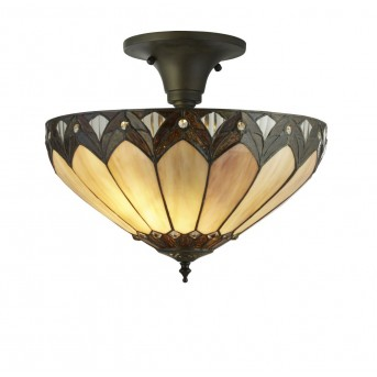 Ceiling Light Searchlight PEARL black, brown, bronze, transparent, clear, 3-light sources