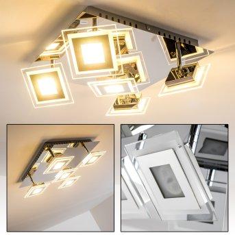 Cerreto ceiling light LED chrome, 5-light sources