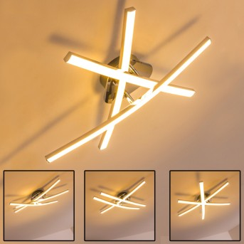 ATOME Ceiling Light LED chrome, 3-light sources