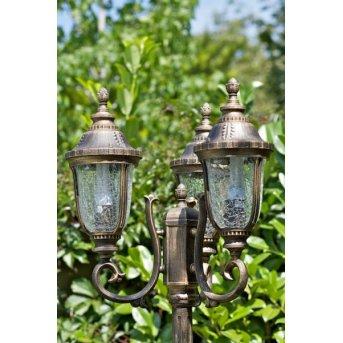 Orion lamppost black-gold, 3-light sources