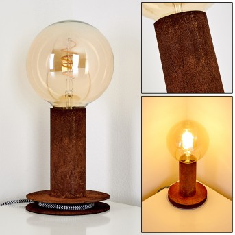 KIMSTAD Table Lamp rust-coloured, 1-light source