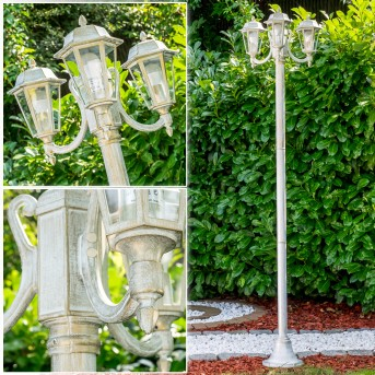 NATAL Lamp Post white, gold, 3-light sources