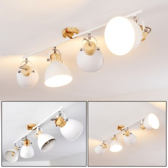 Banjul Ceiling Light white, Light wood, 4-light sources