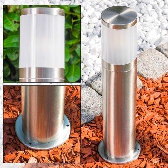 TOLSONA Pedestal Light stainless steel, 1-light source