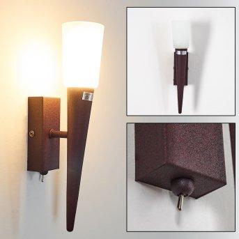 KUNDI wall light rust-coloured, 1-light source