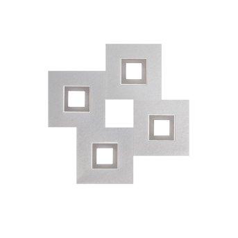 Grossmann KARREE Wall and Ceiling Light LED aluminium, titanium , 4-light sources
