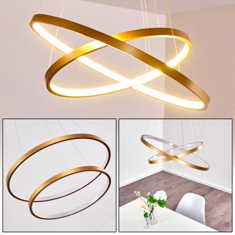 Canisteo Pendant Light LED gold, 2-light sources
