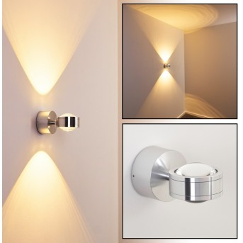 Indore wall light LED aluminium, 2-light sources
