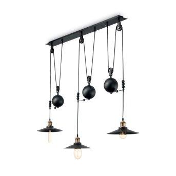 Ideallux Pendant Light black, 3-light sources