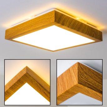 SORA WOOD Ceiling light LED light wood, 1-light source