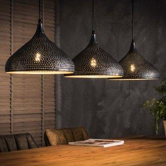 WILDERVANKSTERDALLEN Pendant Light black, brown, 3-light sources
