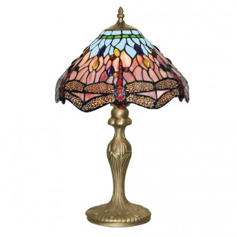 Table Lamp Searchlight DRAGONFLY brass, 1-light source
