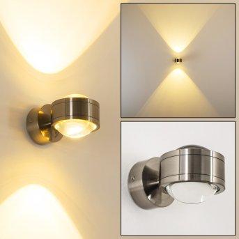INDORE Wall Light LED matt nickel, 2-light sources